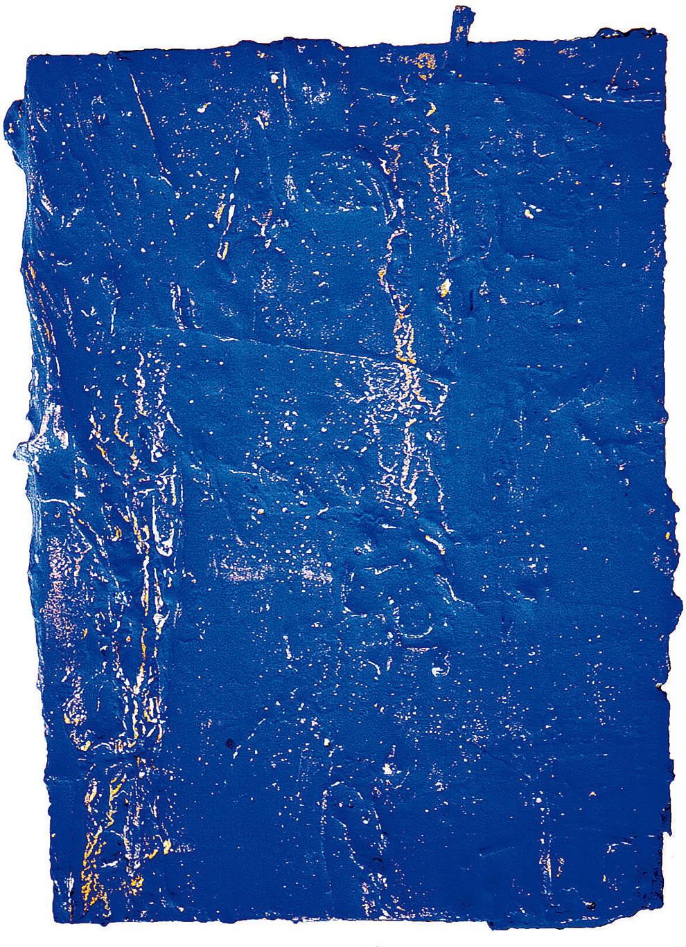 《古裂—蓝》--54.4x40x5.6cm--木质构造、麻纸、矿物·植物·土质颜料、箔--2002年.jpg