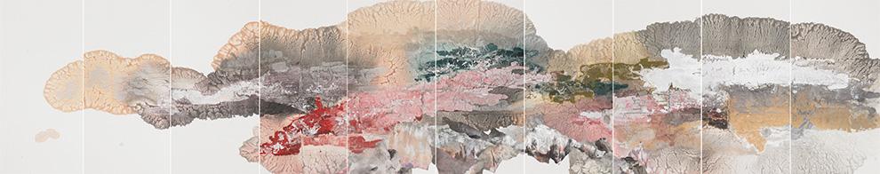 胡伟《祥云》140x700cm--宣纸、墨、矿物·植物颜料--2007年.jpg