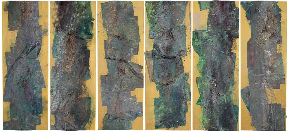 胡伟《雨芭蕉·春》170cmx360cm--综合材料--2015年.jpg