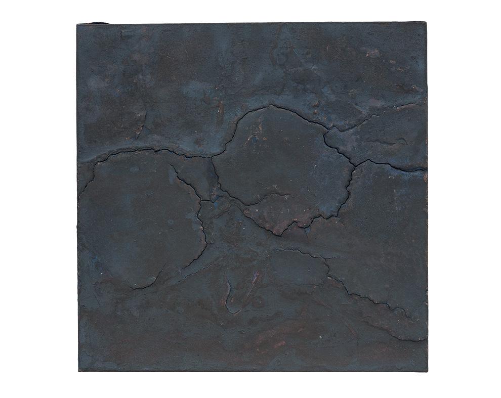 胡伟《黑漆古》四-50x50cm--木质构造、麻纸、矿物·植物·土质颜料、箔--2015年-.jpg
