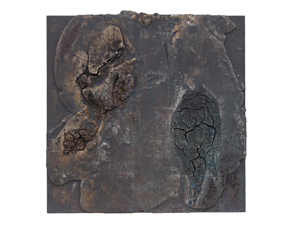 《水银沁》二--50x50cm--木质构造、麻纸、矿物·植物·土质颜料、箔--2016年-.jpg