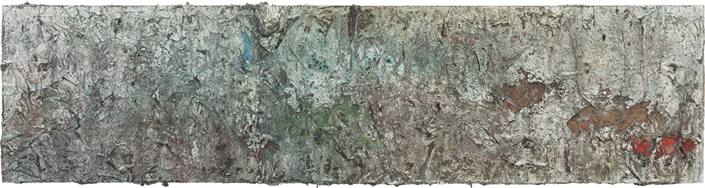 《书卷》二--90x360cm--木质构造、宣纸、矿物·植物·土质颜料-、金银粉、金属渣--2014年.jpg
