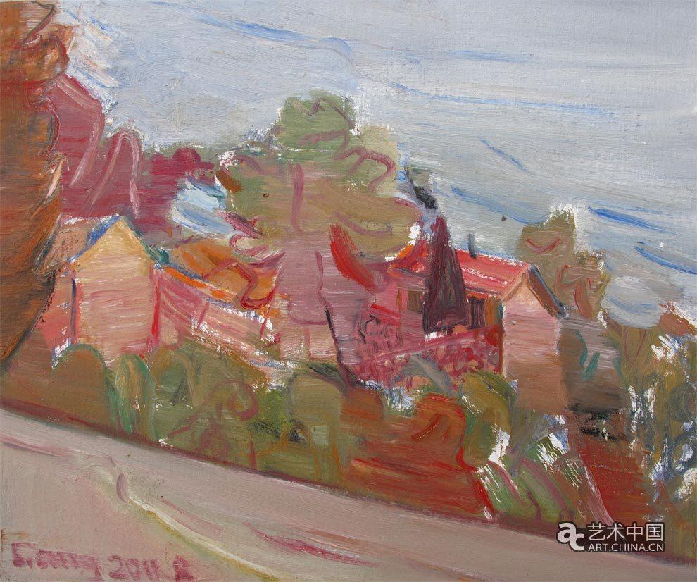 手绘色彩山