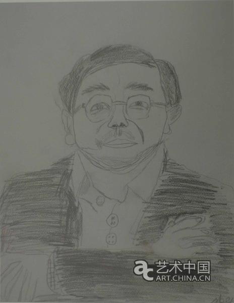 父亲的素描画-陈天画爸爸的速写-杨明义 陈逸飞之子陈天颇具绘画天赋图片