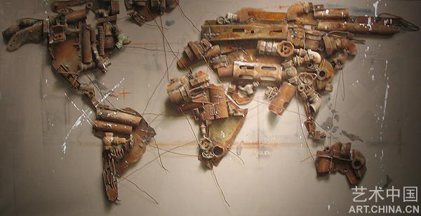 世纪风景之三;; 011 - 冷军油画步骤,细节 - 相; 中国写实画派油画