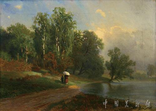 瓦西里耶夫的风景油画