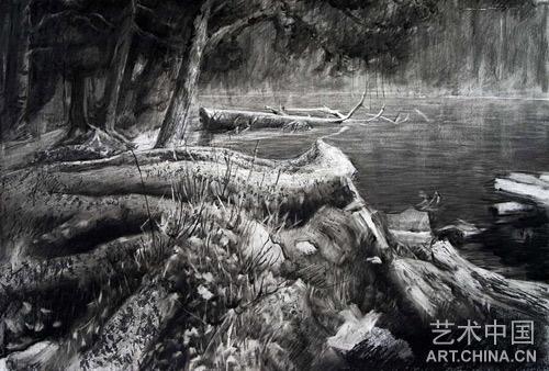 风景素描作品 风景素描作品欣赏 风景素描教程