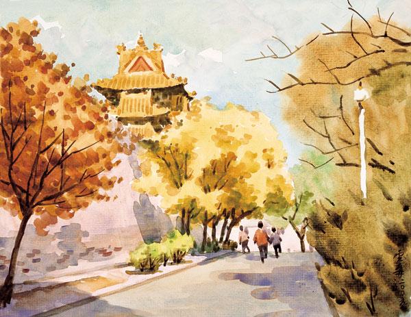 柳新生水彩风景