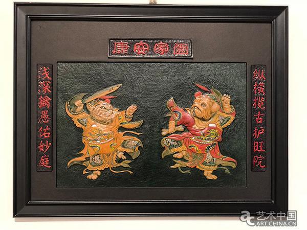 蔡弘灏师生皮雕艺术作品展亮相北航艺术馆