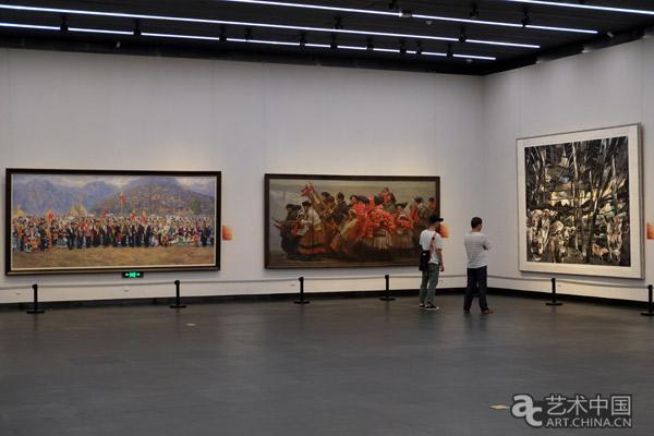 """""""庆祝改革开放四十周年主题美术作品展""""展览现场图片"""
