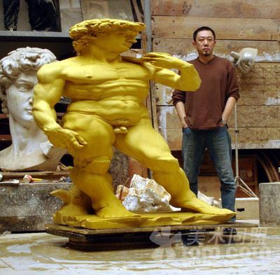 陈克 雕塑作品展图片