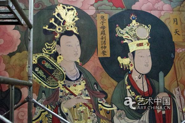 中央美术学院为大同善化寺绘制大型传统壁画