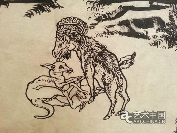 《十一日谈:白描芥子园》(作品局部) 艺术中国:您怎样看待传统?