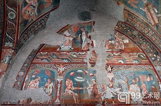 全球商业巨头资助罗马修道院恢复世俗壁画
