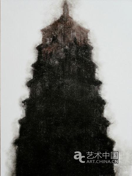 《佛塔之一》 110x150cm