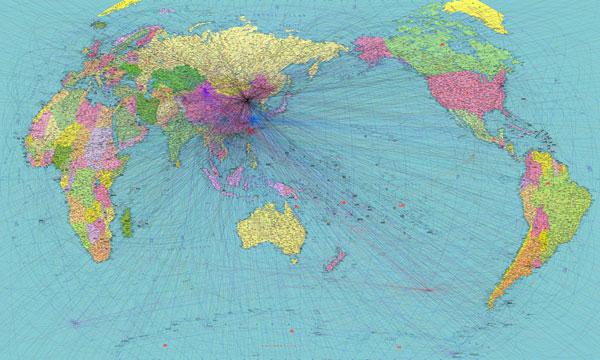 王庆松《世界地图》2012年